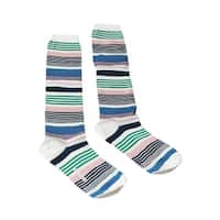 Missoni GM00CMD4936 0002 Blue/Green Striped Boot Socks - M