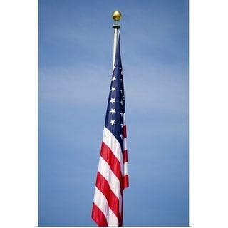 """American flag"" Poster Print"