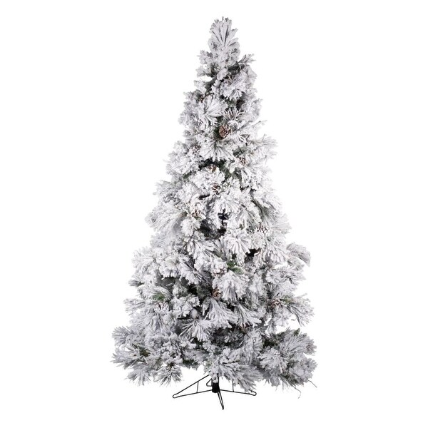 Green And White Christmas Tree: Shop 7.5' Snow White And Green Frosted Prelit Medium Pine