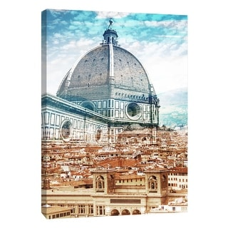 """PTM Images 9-109030  PTM Canvas Collection 10"""" x 8"""" - """"Florence A"""" Giclee Buildings and Cityscape Art Print on Canvas"""