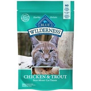 Blue Buffalo Cat Wilderness Grain-Free Chicken Turkey Treat 2 oz..