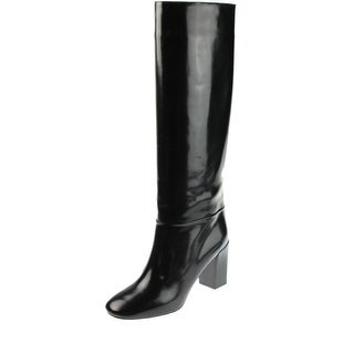 Chloe Womens Knee-High Boots Leather Pull On - 10