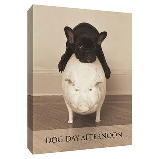 """PTM Images 9-154950  PTM Canvas Collection 10"""" x 8"""" - """"Dog Day Afternoon"""" Giclee Dogs Art Print on Canvas"""
