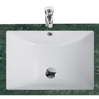 "Eago BC302 21-1/4"" Undermount Bathroom Sink with Overflow - White"