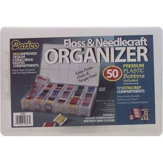 Deep Floss Caddy 17 Compartments W/50 Bobbins