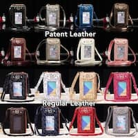 Michael Kors Leather Crossbody Multi-Functional Purse / Wallet / Phone Holder in 16 Colors - Fits All Smart Phones