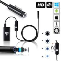 Indigi® Wireless 2.0 mp Endoscope Borescope Inspection Snake Cam - WiFi Enabled - Waterproof - iOS & Android Compatible