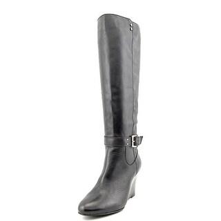 Alfani Asche Round Toe Leather Knee High Boot