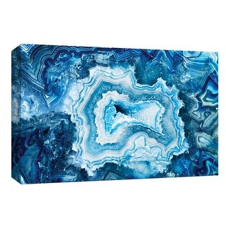"""PTM Images 9-148282  PTM Canvas Collection 8"""" x 10"""" - """"Indigo Agate II"""" Giclee Abstract Art Print on Canvas"""