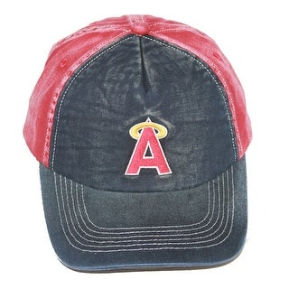Anaheim Angels MLB Washed Cotton Snapback Hat, Navy Red