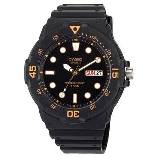 Casio Mens Black Resin Dive Watch