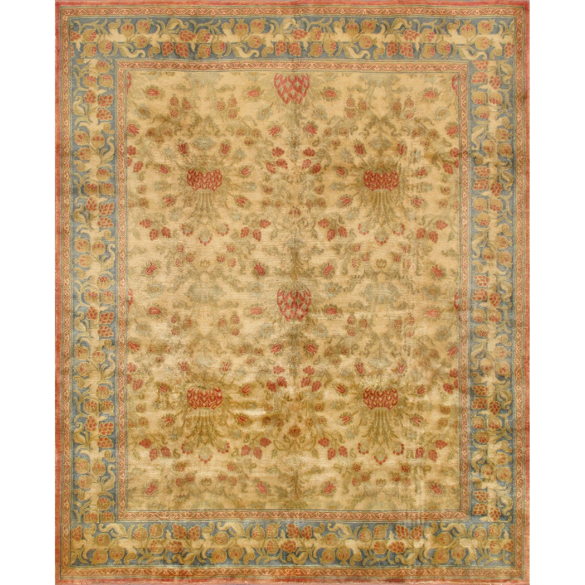 Pasargad Home Savonnerie Collection Hand Knotted Wool Area Rug 8 0 X 9 9 On Sale Overstock 31278824