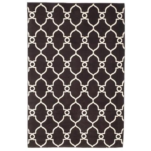 Windsor Home Lattice Area Rug- Plush Throw Carpet- Mid-Century Modern Design- Moroccan Trellis