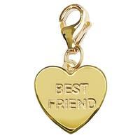 Julieta Jewelry 'Best Friends' Heart Plate Clip-On Charm