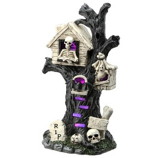 "15"" Haunted Tree House - Black"