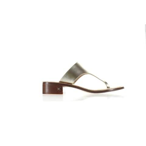 Sam Edelman Womens Jaynee Gold T-Strap Heels Size 5.5
