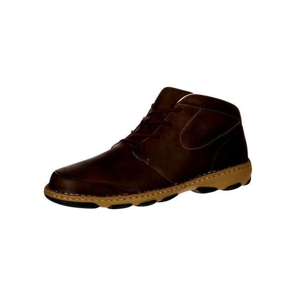 Rocky Outdoor Boots Mens Cruiser Casual Chukka Leather Brown
