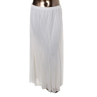 Onyx Nite Womens Maxi Skirt Mesh Elastic Waist