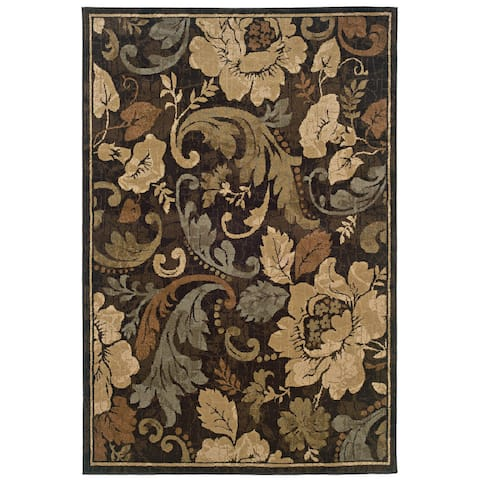 Hempsted Overscale Contemporary Floral Area Rug