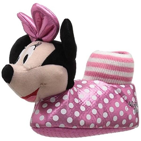 Disney Girls Minnie Mouse Novelty Slippers Polka Dot