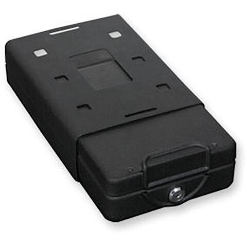 Bulldog Car Personal safe w key lock mounting bracket & cable Blk