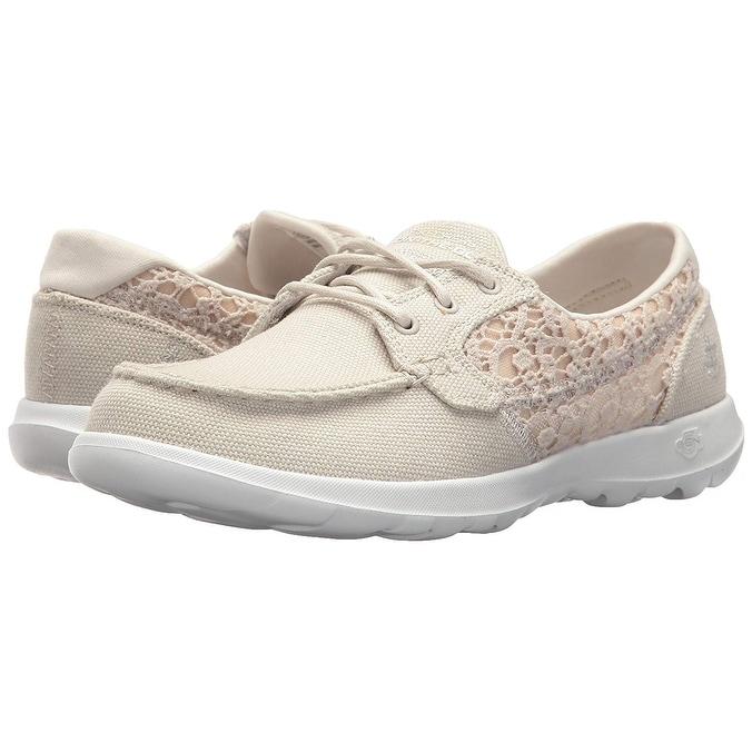 Go Walk Lite-15431 Boat Shoe,Natural