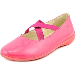 Naturino 2815 Youth Round Toe Patent Leather Pink Ballet Flats