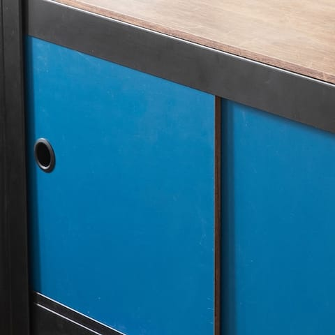 Aurora Home 4Shelf 2Door Customizable Modular Shelving and Storage