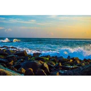 Ocean Coast Photograph Wall Art Canvas