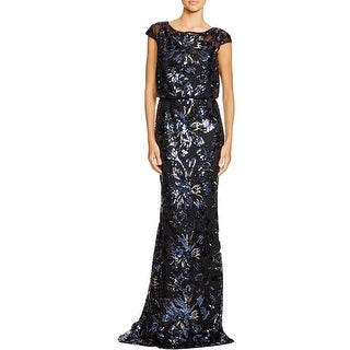 Badgley Mischka Womens Semi-Formal Dress Silk Cap Sleeves