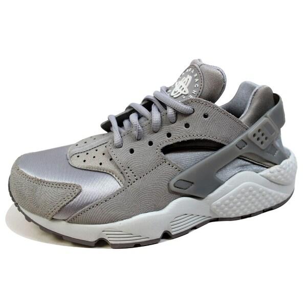 Nike Women's Air Huarache Run Premium Suede Medium Grey/Off White 833145-002 Size 6.5