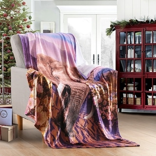 Animal Printed Fleece Blankets Throw Lightweight Super Soft Cozy