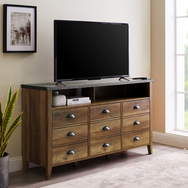 The Gray Barn 52-inch 3-Door TV Console. Opens flyout.