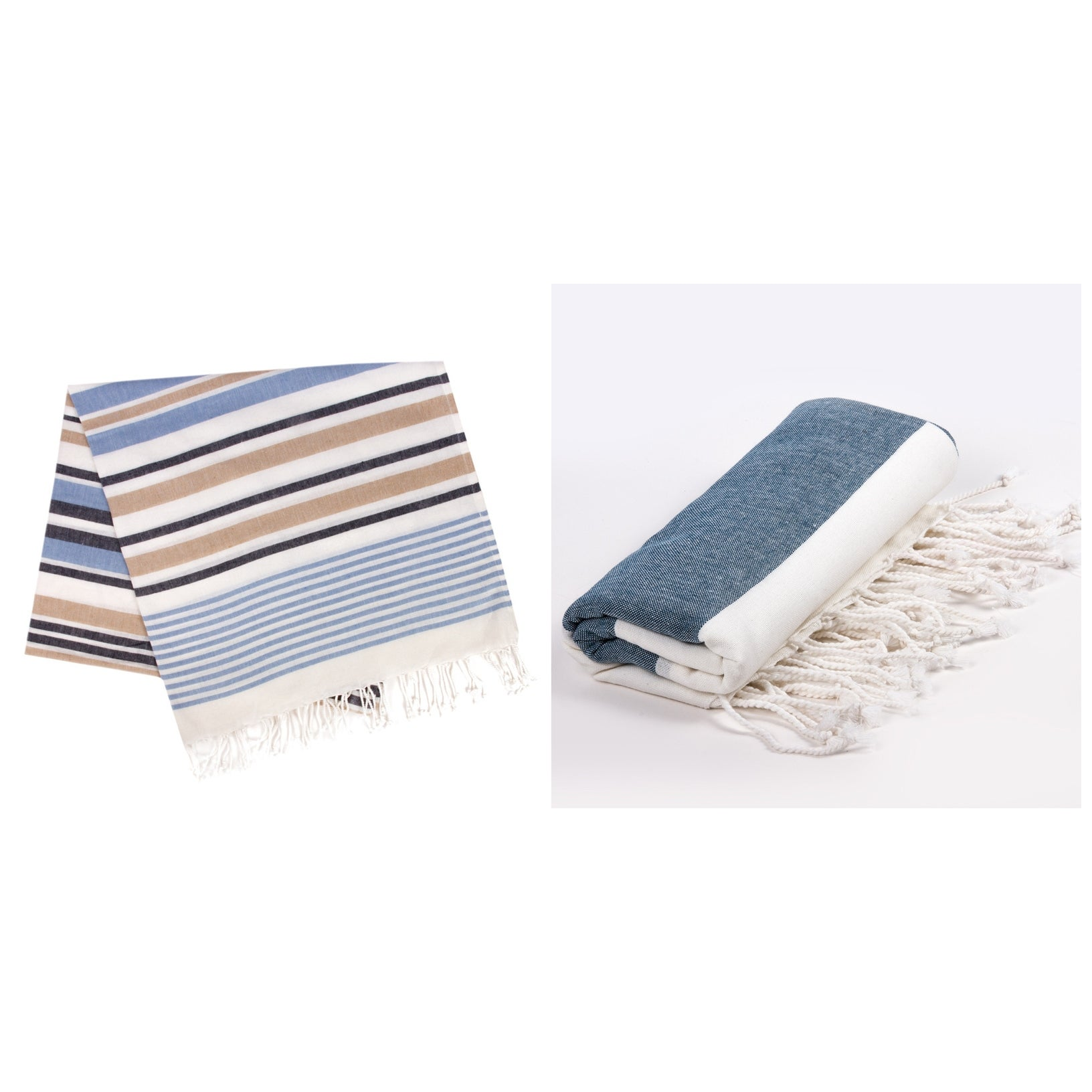 2 Pcs Turkish Cotton Bath Beach Hamam Fouta Towel Blanket /& Hand Dish Towel Set
