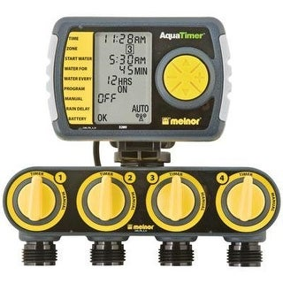 Melnor 3280 4 Zone Electronic AquaTimer with Cable Lock