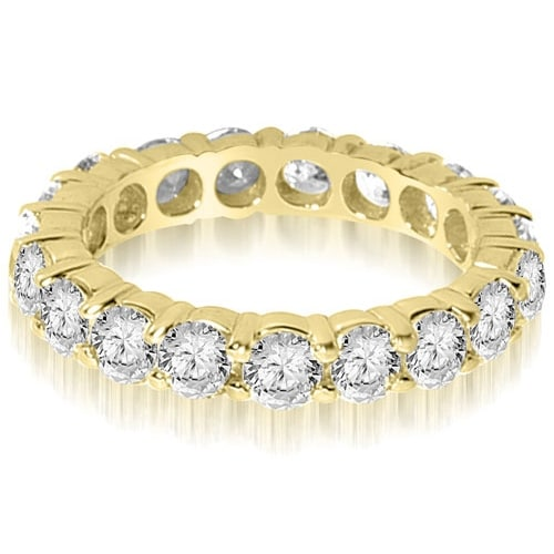 2.20 cttw. 14K Yellow Gold Round Shared Prong Diamond Eternity Ring