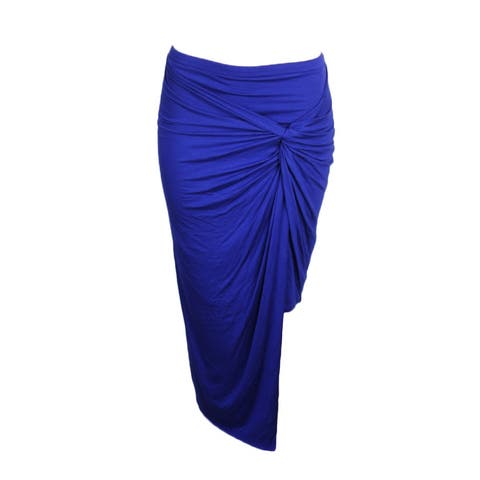 Kensie Dark Saphire Blue Layered Sarong Skirt S