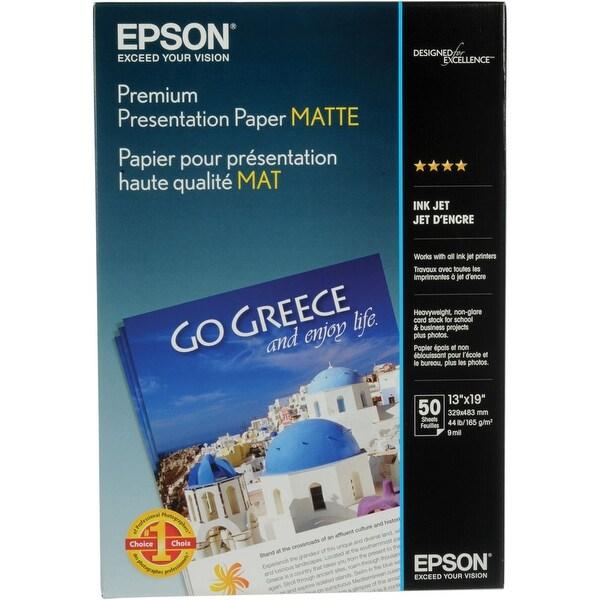 Epson S041263 Presentation Paper B-Size White Paper-Heavyweight Super