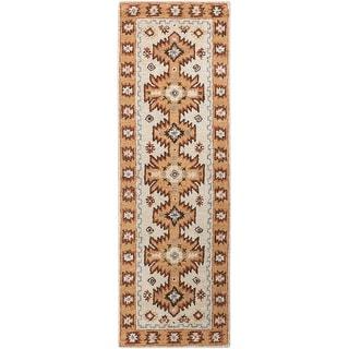 Hand-tufted Southwestern Aztec Waelder Wool Area Rug