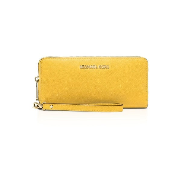 063483324ad93b Michael Kors Womens Jet Set Travel Continental Wristlet Wallet Leather  Clutch