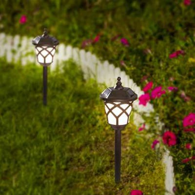 Set of 2 Accent Solar Pathway Lights