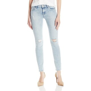 GUESS Mid Rise Skinny Distressed Jeans Pants - 29