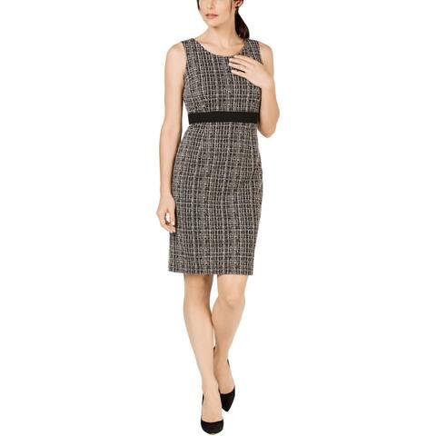 Kasper Womens Sheath Dress Tweed Sleeveless