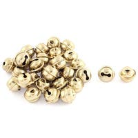Metal Hollow Out Round Cushaw Christmas Jingle Bells 0.24 Inch 30pcs