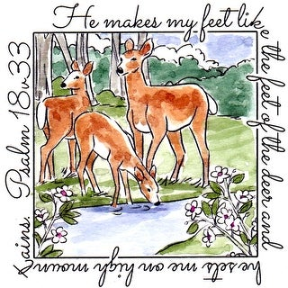 """Art Impressions Windows To The World Cling Stamp 4""""X5.25""""-Deer"""