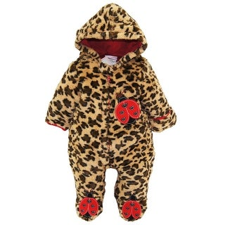 Duck Goose Baby Girls Ladybug and Kitty Plush Ear Snow Pram Bunting Suit Jacket