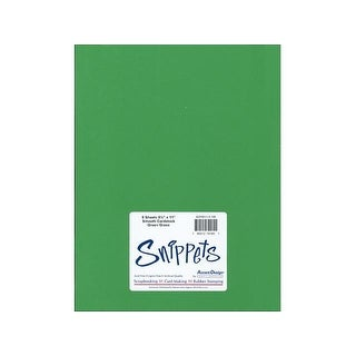 Snippets Smooth 8.5x11 5pc Green Grass