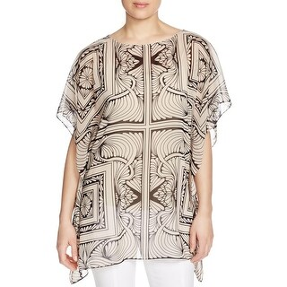 Finity Womens Poncho Top Chiffon Printed