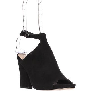Via Spiga Prim Ankle Strap Mules, Black - 7.5 us / 37.5 eu