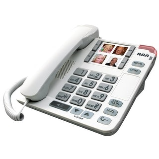 Rca 1123-1Wtga Amplified Big Button Corded Phone
